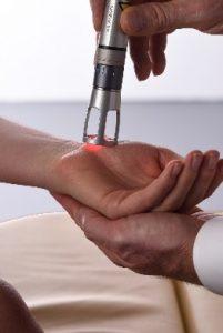 K Laser Treating Wrist in Seaford DE